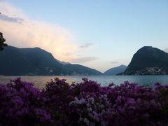 スイスの南国! 魅惑のティチーノ旅♪ Vol4(第1日目黄昏) ルガノ:美しいルガノ湖と幻想的なチャーニ公園♪
