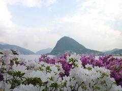 スイスの南国!魅惑のティチーノ旅♪ Vol20(第2日目黄昏) ルガノ ☆アザレアが咲き乱れるルガノの素晴らしいチャーニ公園♪