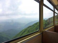 スイスの南国!魅惑のティチーノ旅♪ Vol27(第3日目昼) ルガノ ☆ジェネローゾ山から登山鉄道で下山♪そして憧れのモルコーテへ♪