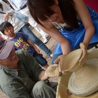 2011 波佐見陶器市でロクロ体験^^