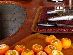 トルコ32 レストランANATOLIAでピザの昼食 ☆オレンジジュースは生絞り