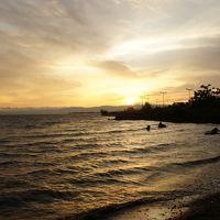 思いつきで琵琶湖。歩きやすいなぁ、長浜