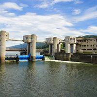 諏訪湖 釜口水門(天龍川の起点)