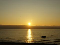 積丹キャンプ No.1 小樽塩谷青の洞窟シーカヤック体験、積丹の夕日