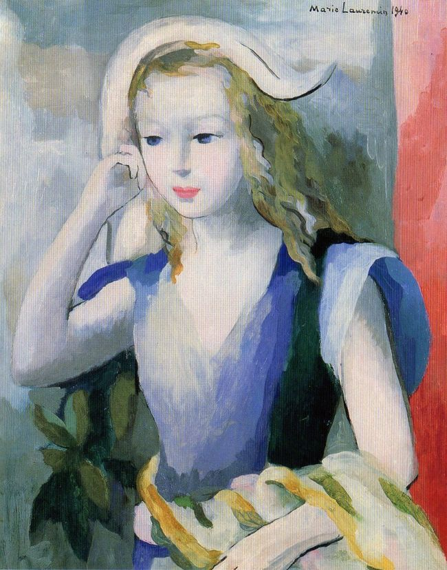 『マリー・ローランサン展』の絵葉書で紹介する、松坂屋美術館の紹介です。マリー・ローランサン(Marie Laurencin, 1883年10月31日 - 1956年6月8日)は、20世紀前半に活動したフランスの女性画家で彫刻家です。<br /> 展示会の日付(旅行時期)は、現時点に置き代えてあります。