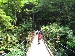 高尾山追悼登山(2)吊り橋経由参道へ。