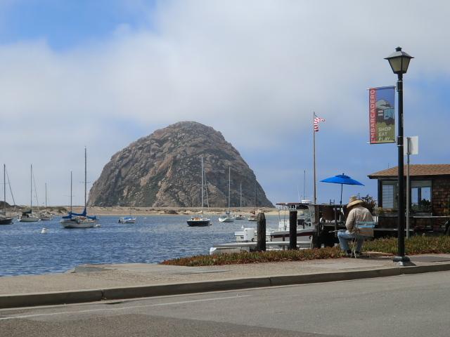 2011年8月4日ー16日。さらに1号線を下ると「San Luis Obisupo」(サンルイスオビスポ)の手前の海岸に大きなお椀を伏せたような岩山が見えてきます。砂州で囲まれた「Morro Bay」(モロベイ)にある「Morro Rock」(モロロック)で先住民の特別な儀式以外は登ることが禁じられている、一枚岩山です。モロベイは淡水と海水が交わる汽水域で、水辺の生き物が豊富で、水鳥やラッコやイルカ?もすいすいと泳いでいました。湾に突き出た「Rose's」で動物たちを眺めながらのランチは最高です。