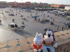 グーちゃん、モロッコへ行く!(マラケシュ/ジャマ・エル・フナ広場からの眺め編)