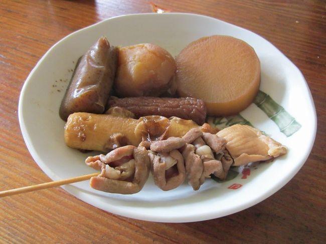 弾丸海外の旅とか、マニアックな国内の旅を好む私ですが、<br /><br />たまには「ベタ」(関西芸人がいうところの定番中の定番の意)<br /><br />なB級ご当地グルメ旅を楽しむことがあります。<br /><br />今回は、静岡市の「静岡おでん」をご紹介します。<br /><br />2011年8月、宮城から京都へ帰省する途中に立ち寄ってみました。<br /><br /><br />★B級グルメシリーズ<br /><br />富士宮焼きそば(静岡)<br />http://4travel.jp/traveler/satorumo/album/10448452/<br />小倉駅ホームのうどん(福岡)<br />http://4travel.jp/traveler/satorumo/album/10474232/<br />かろのうろん(福岡)<br />http://4travel.jp/traveler/satorumo/album/10476120/<br />サラダパン(滋賀)<br />http://4travel.jp/traveler/satorumo/album/10442552/<br />横手焼きそば(秋田)<br />http://4travel.jp/traveler/satorumo/album/10485484/<br />あんかけのたぬきうどん(滋賀)<br />http://4travel.jp/traveler/satorumo/album/10492068/<br />熊谷うどん&雪くま(埼玉)<br />http://4travel.jp/traveler/satorumo/album/10500547/<br />音威子府のそば(北海道)<br />http://4travel.jp/traveler/satorumo/album/10432285/<br />新垣ぜんざい(沖縄)<br />http://4travel.jp/traveler/satorumo/album/10474837/<br />小倉発祥焼きうどん(福岡)<br />http://4travel.jp/traveler/satorumo/album/10504094/<br />一宮モーニング vol.1 (愛知)<br />http://4travel.jp/traveler/satorumo/album/10530716<br />一宮モーニング vol.2 (愛知)<br />http://4travel.jp/traveler/satorumo/album/10546216<br />テラめし(大盛り)の店・美富士食堂(滋賀)<br />http://4travel.jp/traveler/satorumo/album/10519157/<br />湯河原担々焼きそば(神奈川)<br />http://4travel.jp/traveler/satorumo/album/10538103/<br />小田原おでん(神奈川)<br />http://4travel.jp/traveler/satorumo/album/10538101/<br />信濃そば(大阪)<br />http://4travel.jp/traveler/satorumo/album/10544646/<br />門司港焼きカレー(福岡)<br />http://4travel.jp/traveler/satorumo/album/10535618/<br />豊橋カレーうどん(愛知)<br />http://4travel.jp/traveler/satorumo/album/10558793<br />みしまコロッケ(静岡)<br />http://4travel.jp/traveler/satorumo/album/10568015/ <br />のっけ丼(青森)<br />http://4travel.jp/traveler/satorumo/album/10568718/<br />黒石つゆ焼きそば(青森)<br />http://4travel.jp/traveler/satorumo/album/10569411/<br />武蔵野油そば(東京)<br />http://4travel.jp/traveler/satorumo/album/10573567/<br />ヨコスカネイビーバーガー(神奈川)<br />http://4travel.jp/traveler/satorumo/album/10579831 <br />油麩丼(宮城)<br />http://4travel.jp/traveler/sat