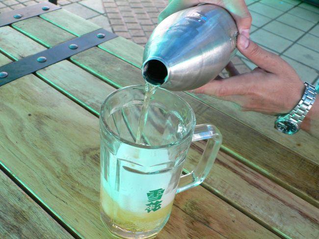 ハルビンはビールの消費量が世界で3番目に多いのだそうです。<br />中国の東北地方といえば冬は極寒です。<br />その寒いところでビールをそれだけ飲むなんて驚き。<br />だって、体暖めるために白酒の方が適してますでしょう?<br />1900年代初頭から外国人が沢山居留していた場所柄でしょうか?<br /><br />そんなハルビンでは、街を歩いていると至る所でビアガーデンを見かけました。<br />ちょうど夏に入るところだったので季節柄かと思いきや、<br />寒風吹きすさぶ春先にも賑わっていたそうな。<br /><br />まさか、真冬はさすがに閉店しますよね?