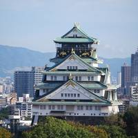 久しぶりにホテルより大阪城を眺める