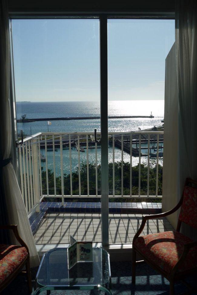 海洋博公園を満喫して、この日から2泊するマリンピアザオキナワに向かいます。<br /><br />マリンピアザオキナワは和洋室主体のホテルのようですが、私が計画を始めた時にはすでに満室で、ツインルームを二部屋予約しました。<br />