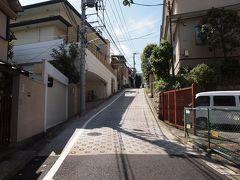 白金台の街並を畠山記念館へ