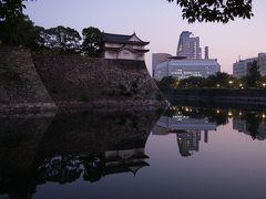 夕暮れの大阪城