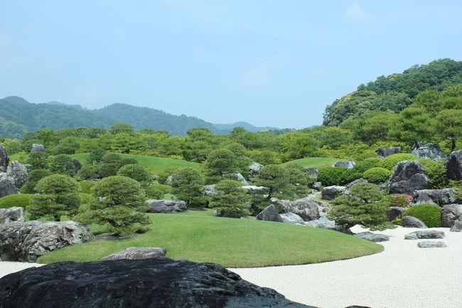 ②のつづき<br /><br />半日しかないので<br />行くところが限られる。<br /><br />日本一の庭園を見たくて足立美術館行き決定。<br /><br />午後1時に松江を出発し<br />帰路につく。<br /><br />