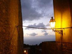 16日間の美食とビーチバカンスのシチリア!Vol79(第11日目黄昏~夜) ☆エリーチェ(Erice):美しい黄昏のエリーチェとレストラン「LA PRIMA DEA」で山の幸を頂く♪