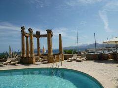 16日間の美食とビーチバカンスのシチリア!Vol94(第13日目昼) ☆パレルモ(Palermo):パレルモのゴージャスなホテル「Hilton Villa Igiea」のテラスで優雅なランチ♪