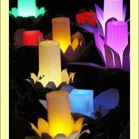 Solitary Journey [959] 竹筒から溢れだすやわらかなロウソクの光<幻想的な町並み竹灯り−たけはら憧憬の路−>広島県竹原市