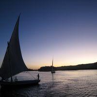 ナイル川の夕暮れ inアスワン