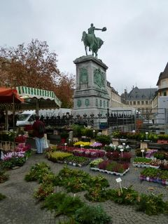 初冬ルクセンブルクのグルメな旅♪ Vol42(第4日目午前) ☆世界遺産ルクセンブルクのギョーム広場の賑やかな市場(前半)♪