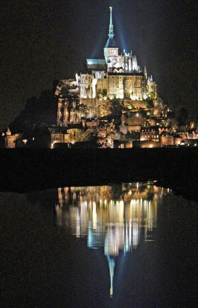 晩秋のノルマンディーの旅(1)モン・サン・ミッシェルとその夜景