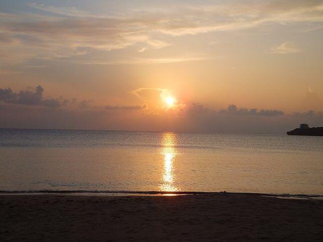 夏休みに恒例の沖縄旅行に行ってきました。今年はひさしぶりに離島にまで足を伸ばしての旅。<br />離島と言えばやはり八重山はが好きで特に西表島が好きなのでファーストチョイスはそこに。<br />あいにく低気圧や台風の影響でいいお天気とは言えませんでしたが、それでも沖縄の雰囲気を楽しませてもらいました。<br />初日は東京から那覇、石垣と経由して西表へ。南国の夕日を眺めました。