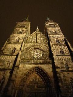 ニュルンベルクとバンベルクのクリスマス旅♪ Vol33(第3日目夜) ☆ニュルンベルクの最後の夜景を楽しむ♪