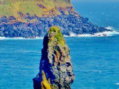 大島G 波浮港見晴台から筆島へドライブ  ☆群青の海原と断崖絶壁