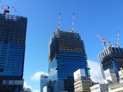 新阪急ホテルアネックスとお正月の梅田界隈の眺め(2012年1月)