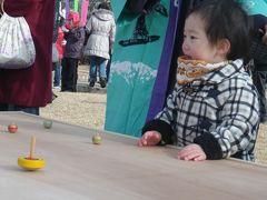 【かーくん02歳09ヶ月】松本城開門式でお正月気分♪