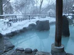 雪見露天風呂へ。