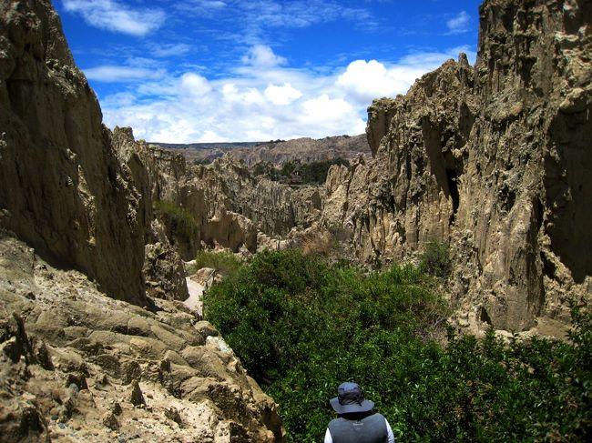 2011年12月29日〜2012年1月8日の日程でボリビアを旅しました。<br />5年程前に、どなたかの旅行記で見たウユニ塩湖の鏡張りの写真に魅せられ、ずっと行きたかったボリビアにやっと行くことができました。<br /><br />ボリビア旅行中は各地で、様々なガイドさんとお話をすることができました。ちょうど旅行時期が年末年始だったこともあり、ボリビアの習慣も色々教えてもらえました。その中で、ちょっと興味深かった話が下着の話です。<br /><br />ボリビアの隣国のペルーでは年末には黄色い下着を買ってそれを着用するという話は有名です。実は、ボリビアにも同じような習慣があるのです。ただ、ボリビアの下着の色は3色。ピンク・黄色・緑。もちろん意味はあります。ピンクはその色のとおり恋愛、黄色はお金、緑は幸福(緑は大地の神パチャママの色でもあります)を表し、年越しの時のその色の下着を身に着けることで、次の年にその色が表す願いがかなうようにと祈願します。<br />ただ、最近の若者はこの習慣を行わないことが多く、実行しているのはそれなりの年齢の方々が多いそうです。<br />また、大晦日にはボリビアの郷土料理の焼き豚とブドウを食べます。過ぎ去ったその年に対する感謝の気持ちをブドウに込めて大地の神パチャママに捧げ、そして、また、翌年の幸福を大地の神パチャママに祈るためにブドウを食べるそうです。<br /><br />そのほかにも、聖なる土地に建物を建てる際の人柱の話???とかこわーい話も教えてもらいました。<br /><br />今回は、そんな話を色々教えてもらいながら歩いたラパスぷらぷら歩きとウユニ-ラパス間のアマソナス航空について、「Amaszonas航空の旅-ラパス市内プラプラお散歩の巻」ボリビア5日目をご紹介します。<br /><br />旅程<br />・12/29 成田-ダラス-マイアミ-ラパス(12/30)(アメリカン航空)<br />・12/30 高度順応とティワナク遺跡<br />・12/31 ウユニ塩湖へ(amazonas航空)<br />・1/1  ラグーナ・コロラダにむけて1泊2日の1000kmドライブ<br />・1/2  ラグーナ・ヴェルデ、ウユニ塩湖<br />☆1/3  ラパスへ(amazonas航空) ラパス月の谷巡り<br />・1/4  チチカカ湖太陽の島(イスラ・デル・ソル)へ<br />・1/5  太陽の島プチトレッキング<br />・1/6  ラパス-マイアミ-NY<br />・1/7  NY-成田<br /><br />☆★☆★☆★☆★☆★☆★☆★☆★☆★☆★☆★☆★☆★☆★☆★<br />ティワナク遺跡 http://4travel.jp/travelogue/10637661<br />ウユニで人さらい http://4travel.jp/travelogue/10637723<br />チリ国境までの湖めぐり http://4travel.jp/travelogue/10638094<br />ラパス市内観光 http://4travel.jp/travelogue/10638521<br />太陽の島でトレッキング http://4travel.jp/travelogue/10639292<br />Espejo del Cielo  http://4travel.jp/travelogue/10648118