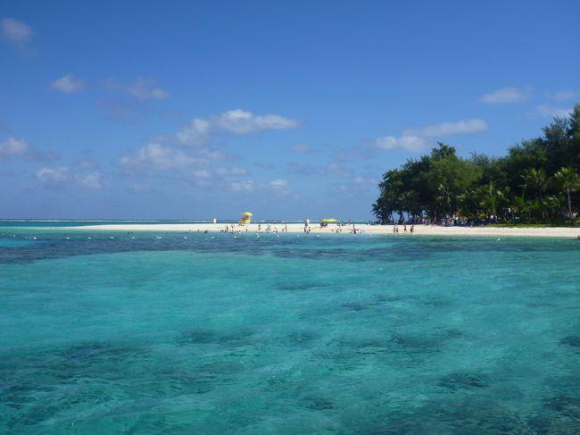 毎年の事だけど、年末年始は仕事の都合で連休が取れない旦那様。<br /><br />って事で、年明け正月気分も抜けた頃行ってきましたサイパン!<br /><br />今回は、「観光しなくていいよね〜」って事でビーチ三昧(笑)<br /><br />もちろんマニャガハ島も行きました。<br /><br />そして初テニアンに1泊という旅になりました。<br /><br />