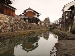 時代劇の撮影によく使われる八幡堀散歩と日本でもっとも安全に住める沖島へ