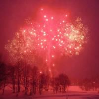 216-キロロスノーワールドで遊ぶ②…冬の花火&蟹食べ放題【ホテル・ピアノ宿泊編】