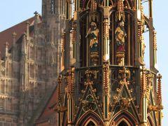 【欧州旅行32日目】 ニュルンベルク、マルクト広場にある17mの金色の塔 「美しの泉」