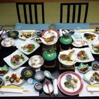 12.春休みの西伊豆1泊旅行 堂ヶ島温泉 アクーユ三四郎の部屋食の夕食