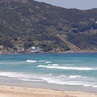 白浜中央海水浴場・・・海の色が素晴らしい。