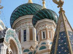 春の優雅なコートダジュール旅♪ Vol34(第4日目午前) ☆ニースの美しいロシア正教会「サン・ニコラ大聖堂」を眺めて♪