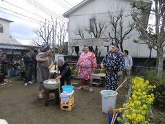 2012年寺内町雛巡り  錦戸部屋のお相撲さんの餅つきにも遭遇しました V(*^^*)