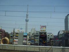 成田エクスプレス(NEX)の車窓から見る、東京スカイツリーの変遷