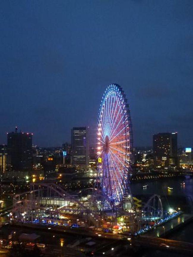 4月13日〜4月15日の2泊3日、<br />春の横浜へ行きました。<br />実に2年ぶり。<br />また、インターコンチネンタルの宿泊は5年ぶり。<br />グランド・インターコンチネンタルのハーバースイートルームでホテルステイ♪<br />のんびりと過ごすことができました。<br /><br />☆Vol6:第2日目(4月14日夜)横浜♪<br />今日は1日ゆったりとホテルステイ♪<br />ディナーはフランス料理「アジュール」。<br />肉料理を省いた特別のコースにお願いした。<br />@アミューズ:ホテルイカとドライトマト<br />@平貝の炙り ライムの香り ほろ苦いサラダ仕立て キャビア添えて<br />@フォアグラのポワレ 苺とバルサミコのソース 苺のクルスティアン<br />@新玉葱の甘いクリームスープ<br />@貝(サザエ・ハマグリ・ムール貝・ホタテ・アサリ)のマリニエール エストラゴン風味 春の彩りを添えて<br />@オマール海老とホワイト×グリーンアスパラガスの軽いフリカッセ ウニの香り<br />@ワゴンデザート<br />@紅茶・小菓子<br />と頂きました。<br />全体に魚介でバランスがとれ、とっても美味しかったでした。<br />何よりも貝好きな私としては、嬉しい内容でした。