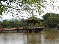 造幣局の通り抜けと醍醐の葉桜(3)鹿の苑と浮見堂。