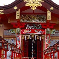桜川市 加波山神社と普明神社の参拝と花見 <朱色の鮮やかな神社>
