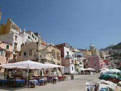 初夏のイスキア島で優雅なバカンス♪ Vol35(第5日目午前) ☆プローチダ島:Corricellaの美しい港とカラフルな街並みを鑑賞♪