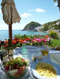 初夏のイスキア島で優雅なバカンス♪ Vol51(第7日目昼) ☆イスキア島サンタンジェロ:「パーク・ホテル・ミラマーレ」の温泉公園「アフロディテ・アポロン」のレストランで優雅なランチ♪