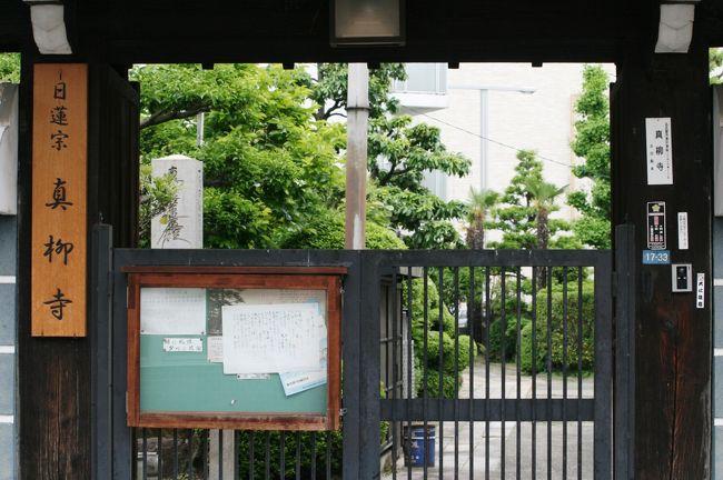 名古屋市東区にある日蓮宗のお寺、恵眼山・真柳寺の紹介です。慶長12年(1605年)に法華寺六世真柳院日動上人によって創建され、以来法華寺の末寺となりました。本堂は幕末の嘉永6年に焼失、2年後に再建されました。