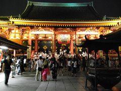 浅草寺から隅田川花火大会を見る