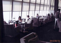 上海の環球金融中心・(裏ワザ)87階のホテルパークハイヤットのロビーラウンジ