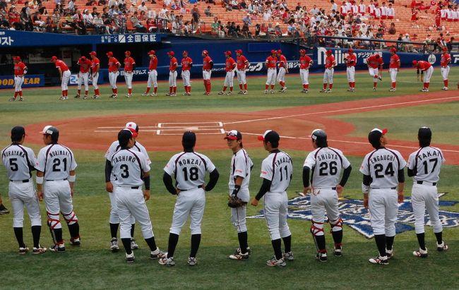 都市対抗野球の予選を見に行ってきました。<br />横浜スタジアムから神宮球場に、はしご観戦しました。<br />応援していた、三菱重工横浜とセガサミーは両方とも負けてしまいました・・・。<br /><br />でも、社会人野球は本当に面白いね。<br /><br />野球好きなblogはこちら。<br />http://www.plus-blog.sportsnavi.com/chifu/article/606<br />http://www.plus-blog.sportsnavi.com/chifu/article/605